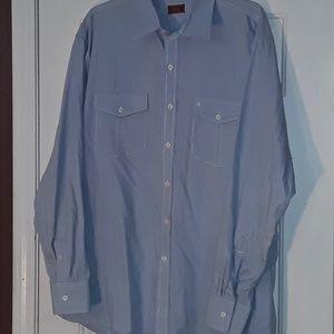 IZOD Luxury Sport Vintage Wash Collection Shirt L